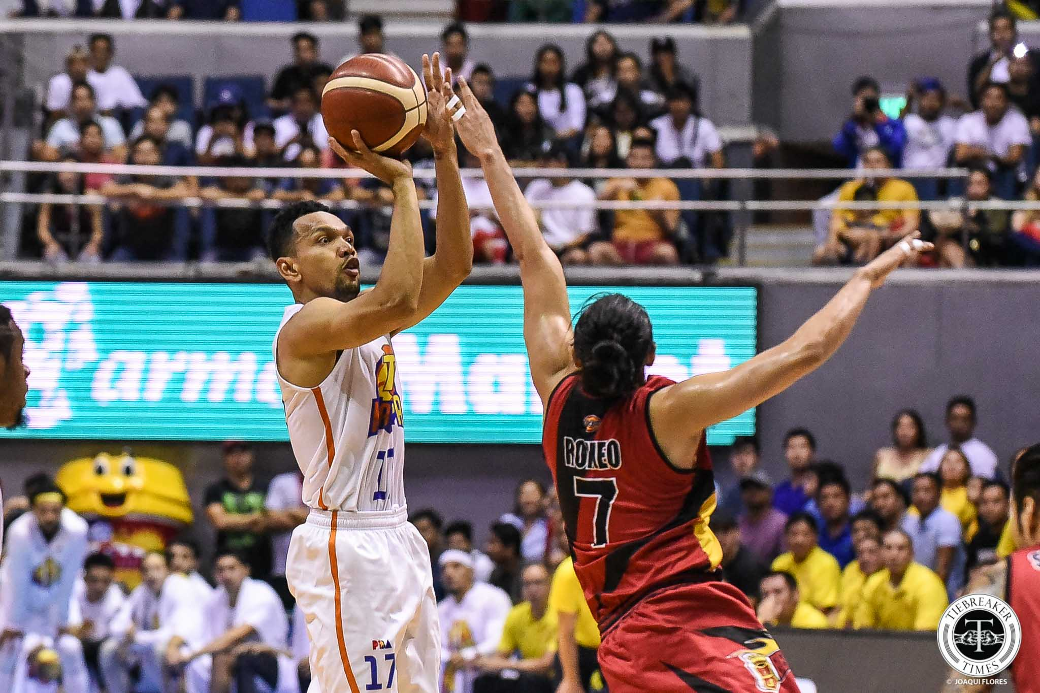 Tiebreaker Times Jayson Castro, TNT charge Finals Game 2 loss to experience Basketball News PBA  TNT Katropa PBA Season 44 Jayson Castro Bong Ravena 2019 PBA Commissioners Cup