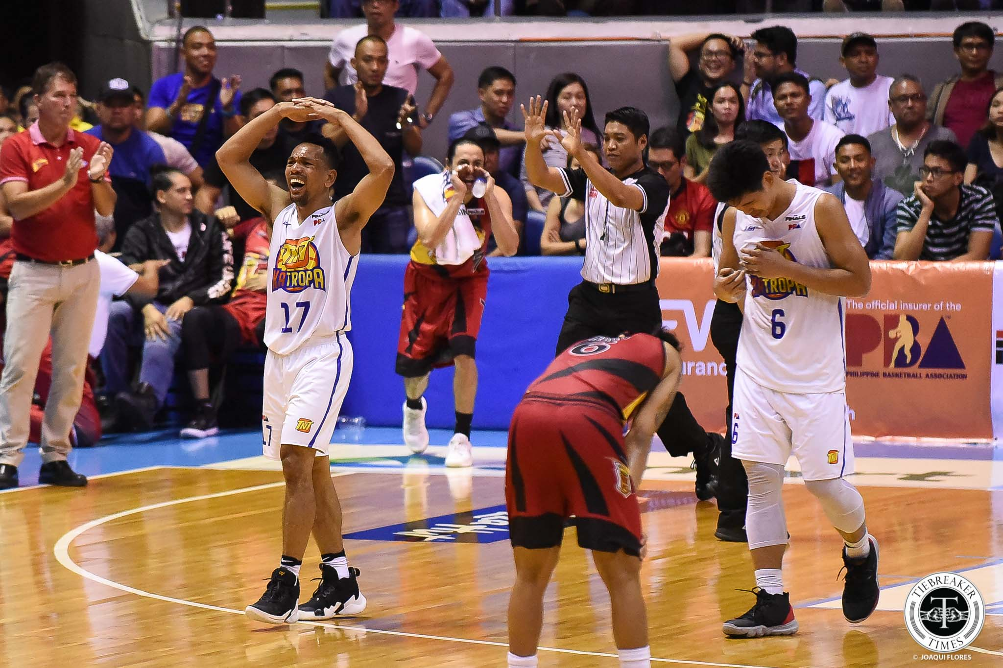 Tiebreaker Times Mark Dickel has no qualms about officiating: 'You bring that up, you lessen San Miguel's good game' Basketball News PBA  TNT Katropa PBA Season 44 Mark Dickel 2019 PBA Commissioners Cup