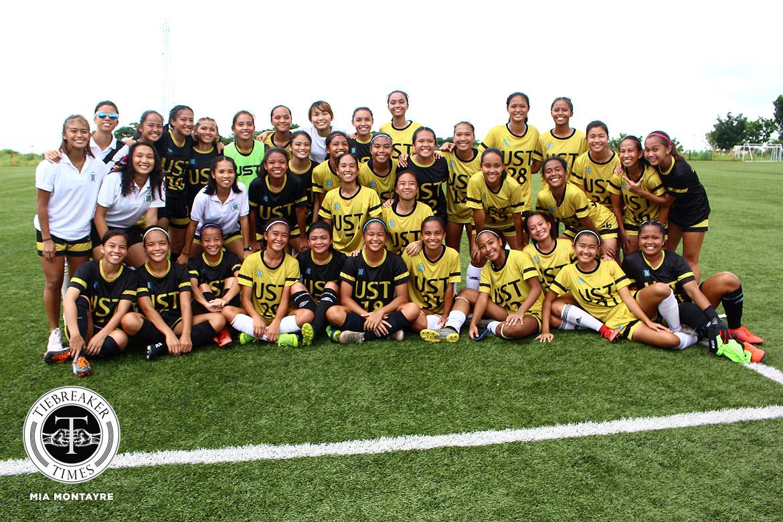 PFFWL-2019-MD2-UST-d-Tigers-FC-celebration La Salle opens PFFWL title-defense campaign in dominant fashion DLSU FEU Football News PFF Women's League UP UST  - philippine sports news