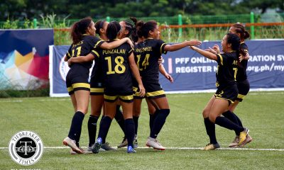 Tiebreaker Times Goalfest vaults UST to top of PFFWL table FEU Football News PFF Women's League UP UST  Yasmin Elauria UST Women's Football UP Women's Football Tuloy FC Tigers FC Stephanie Goñe Shelah Mae Cadag Samantha Green Paula Cervantes Nomads FC Nathalie Absalon Natasha Alquiros Mika Punzalan Mary Joy Indac Marianne Narciso Let Dimzon Joyce Semacio Joyce Onrubia Jonalyn Lucban Jenny Perez Jennizel Cabalan Jayson Turco Isabella Bandoja Hiraya FC Green Archers United FEU Women's Football Erika Turtur Eojin Koh Elvin Marcellana Carmela Sacdalan Andrea Jane Limboy 2019 PFFWL Season