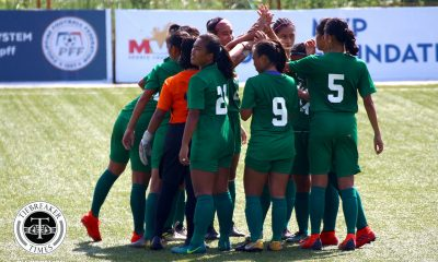 Tiebreaker Times La Salle Lady Booters back on top of PFFWL table DLSU Football News PFF Women's League UP  Valerie Polido UP Women's Football Tuloy FC Tigers FC Steph Permanes Stallion-Hiraya FC Richielyn Nunez Nomads FC Michaela Maligalig Mary Cristine Duran Maroons FC Marilou Layacan Mae Sullano Kristine Cosgrove Khryztel Muring Kamea Mangrobang Joyce Semacio Jonalyn Lucban Jayson Turco Janina Arellano Isabella Bandoja Hans-Peter Smit Green Archers United Franco Bambico Eva Barnes DLSU Women's Football Diana Castro Alyssa Ube Abigail Corvera 2019 PFFWL Season