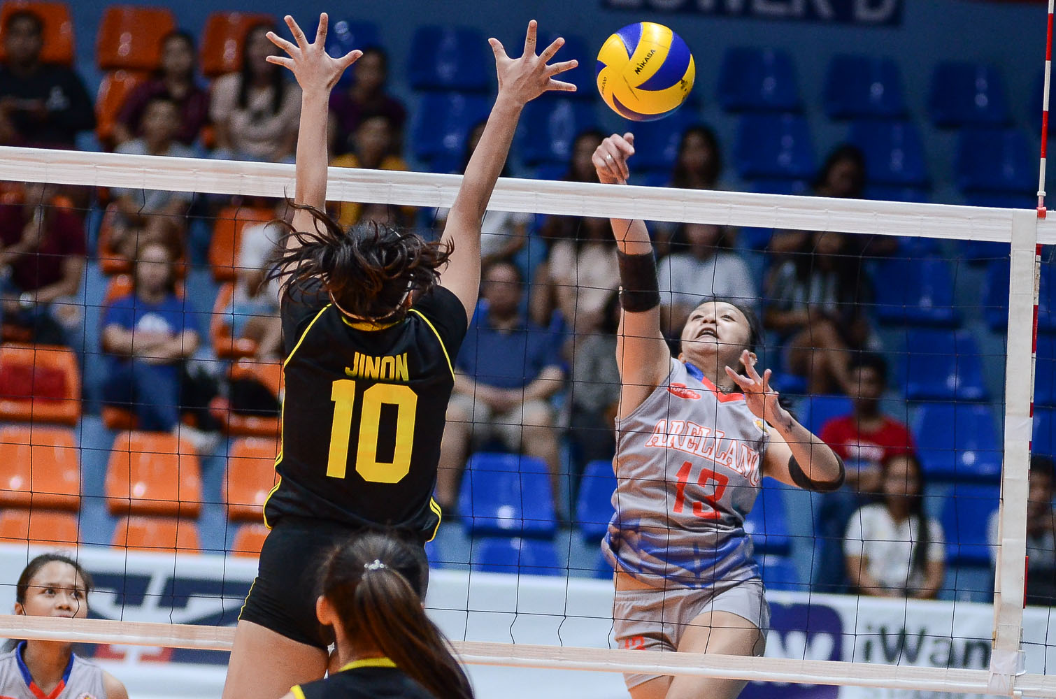 Tiebreaker Times Arocha, Arellano put on clinic against TIP for first win AU News PVL Volleyball  TIP Lady Engineers Regine Arocha Necole Ebuen Khem Consencino Arellano Women's Volleyball Achilles Paril 2019 PVL Season 2019 PVL Collegiate Conference