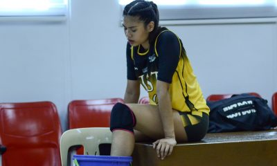 Tiebreaker Times Ysa Jimenez suffers ankle sprain News PVL UST Volleyball  Ysa Jimenez UST Women's Volleyball Kungfu Reyes 2019 PVL Season 2019 PVL Collegiate Conference