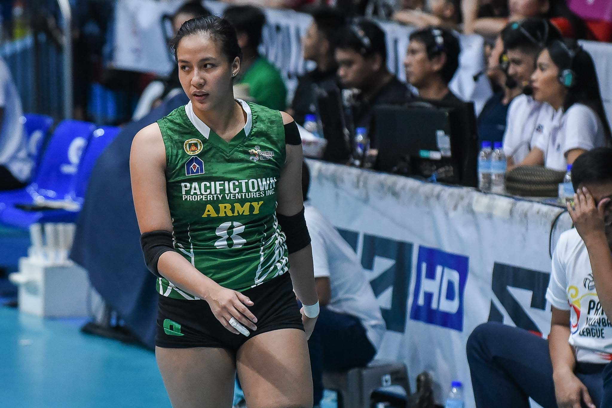 Tiebreaker Times Playing in back-to-back five setters all 'worth it' for Jovelyn Gonzaga News PSL PVL Volleyball  Pacific Town-Army Lady Troopers Jovelyn Gonzaga Cignal HD Spikers 2019 PVL Season 2019 PVL Open Conference 2019 PSL Season 2019 PSL All Filipino Conference