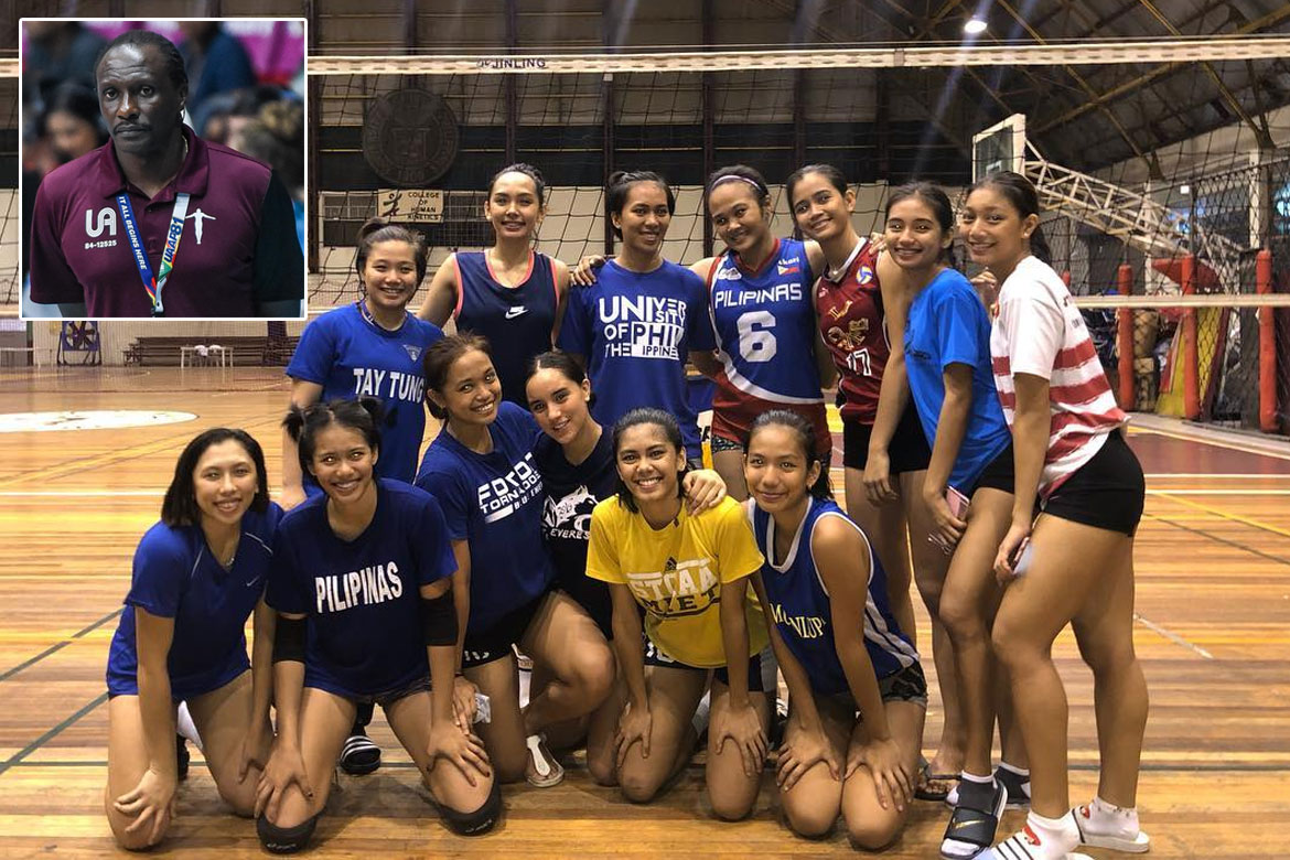 Tiebreaker Times Okumu knows 'hardworking' Juliana Gomez can be a UP Lady Maroon News UP Volleyball  UP Women's Volleyball Juliana Gomez Godfrey Okumu 2019 PVL Collegiate Conference