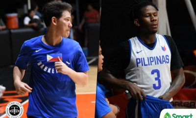 Tiebreaker Times Even in Gilas, Robert Bolick and CJ Perez remain inseparable 2019 FIBA World Cup Qualifiers Basketball Gilas Pilipinas News  Robert Bolick Gilas Pilipinas Men CJ Perez 2019 FIBA World Cup