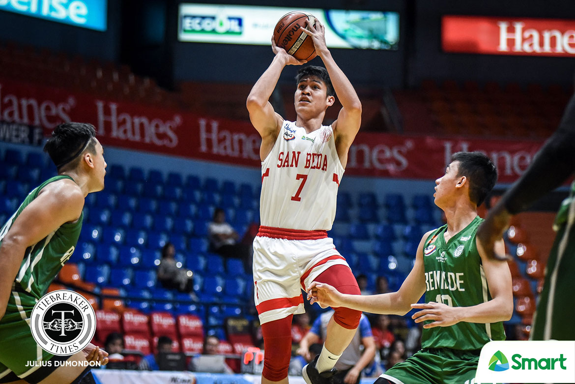 Tiebreaker Times Calvin Oftana resets career-high as San Beda frustrates Benilde for eighth win Basketball CSB NCAA News SBC  San Beda Seniors Basketball NCAA Season 95 Justin Gutang Jimboy Pasturan James Canlas Evan Nelle Charles Tiu Calvin Oftana Boyet Fernandez Benilde Seniors Basketball AC Soberano