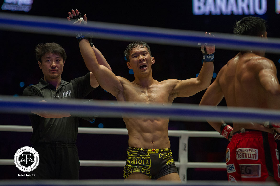 Tiebreaker Times Honorio Banario out-grappled by Dae Sung Park, drops second straight bout Mixed Martial Arts News ONE Championship  Yushin Okami ONE: Dawn of Heroes Leandro Issa James Nakashima Honorio Banario Daichi Takenaka Dae Sung Park