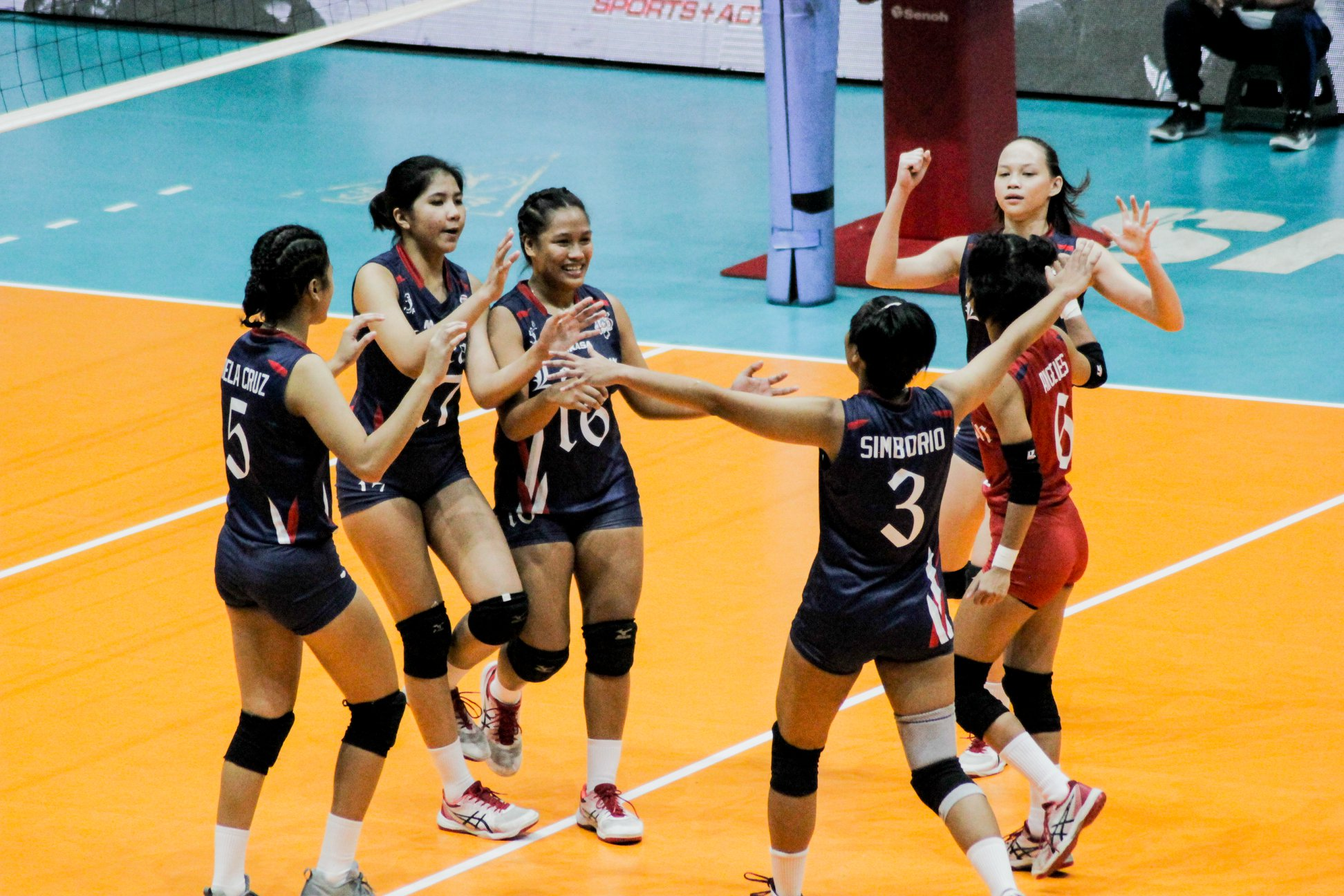 Tiebreaker Times Cuñada, Letran pull off come-from-behind stunner against Perpetual CSJL News PVL UPHSD Volleyball  Perpetual Women's Volleyball Michael Inoferio Macky Cariño Letran Women's Volleyball Kath Dela Cruz Jhona Rosal Charm Simborio Chamberlaine Cunada Bianca Tripoli 2019 PVL Season 2019 PVL Collegiate Conference