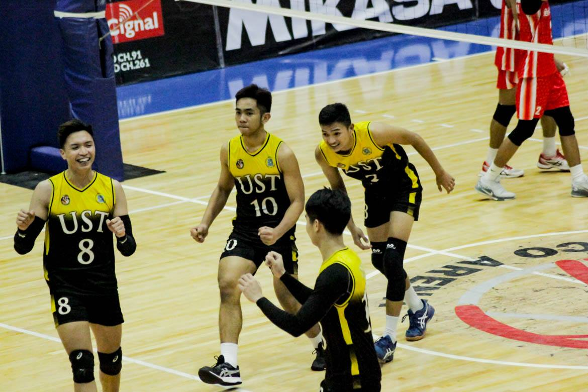 2019-Spikers-Turf-Open-Conference-UST-def-SBU Air Force goes to 3-0, rookie Senaron powers UST comeback vs San Beda AdU News SBC Spikers' Turf UST Volleyball  - philippine sports news