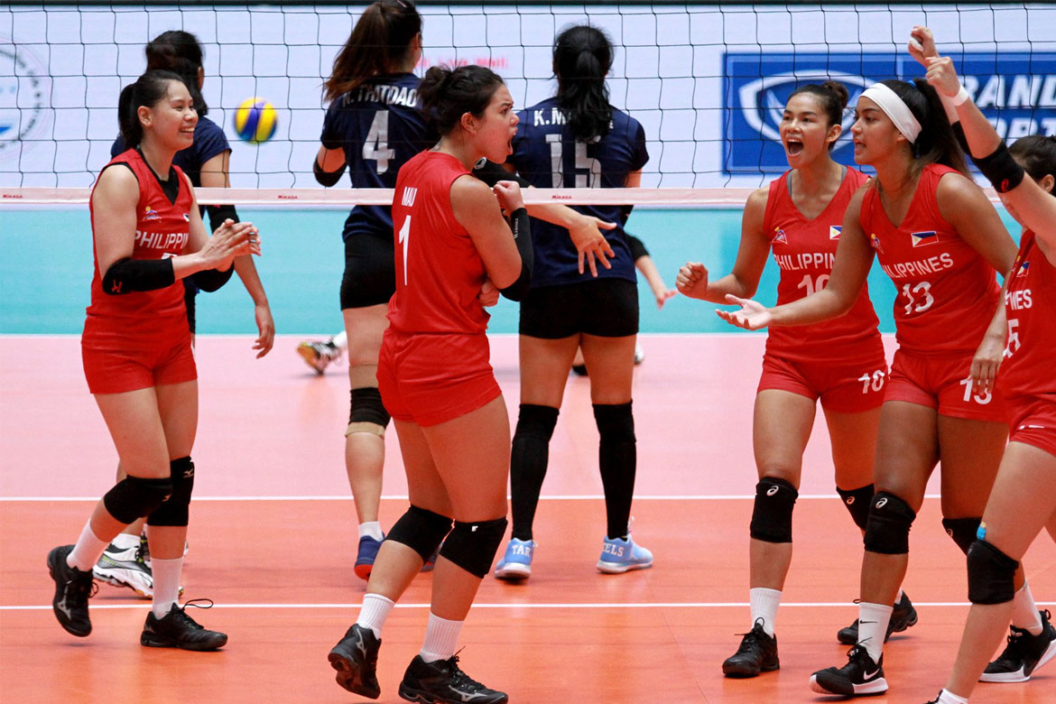 Tiebreaker Times Philippines suffers another heartbreaker, succumbs to Thailand News Volleyball  Thailand (Volleyball) Shaq delos Santos Philippine Women's National Volleyball Team Majoy Baron Kalei Mau jovelun gonzaga Eya Laure Ces Molina Aby Marano 2019 SEA Grand Prix