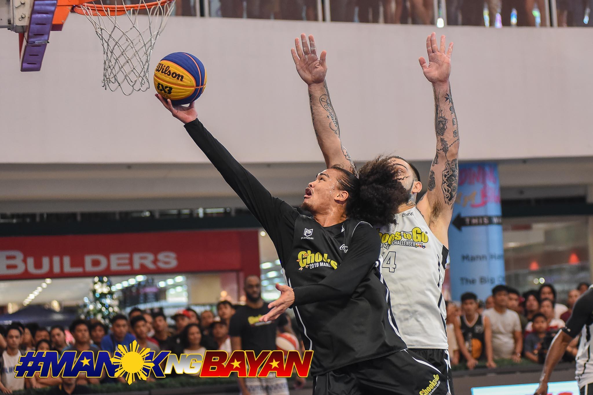 2019-chooks-to-go-manila-challenger-lyon-def-pasig-joshua-munzon Munzon, Pasaol to bring past experience vs Qatar, France to Gilas 3x3 3x3 Basketball Gilas Pilipinas News  - philippine sports news