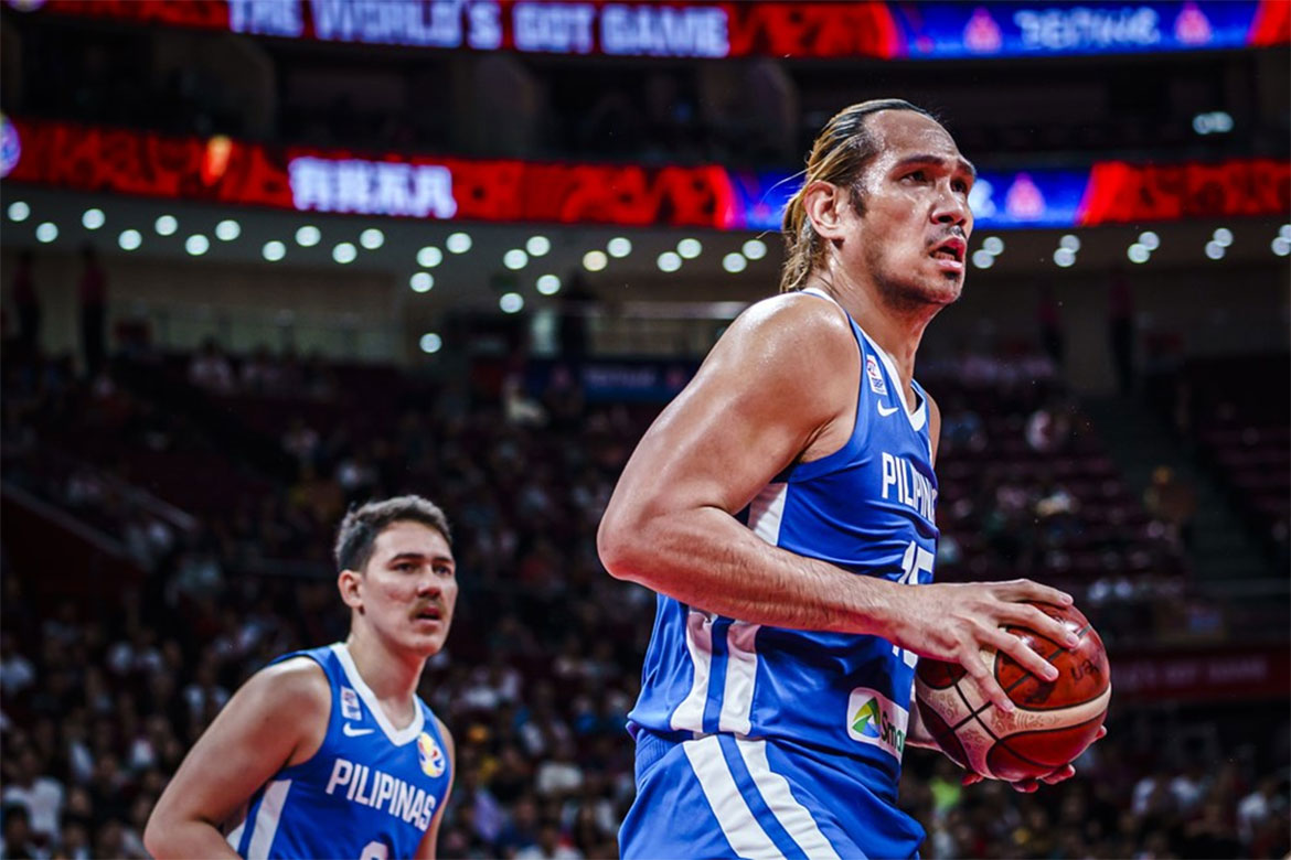 Tiebreaker Times Gilas Pilipinas fall to Iran, in danger of finishing last in World Cup 2019 FIBA World Cup Qualifiers Basketball Gilas Pilipinas News  Yeng Guiao Robert Bolick June Mar Fajardo Iran (Basketball) Gilas Pilipinas Men Andray Blatche 2019 FIBA World Cup