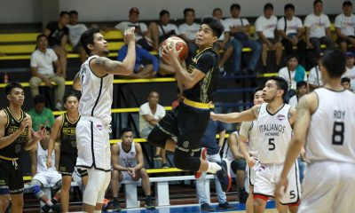 Tiebreaker Times Joshua Fontanilla flirts with triple-double as BRT-Sumisip St. Clare sweeps elims Basketball News PBA D-League  Paolo Pontejos Joshua Fontanilla Jessie Collado Italiano's Homme Francis Munsayac Darwin Lunor cris dumapig BRT Sumisip-St. Clare Saints 2019 PBA D-League Second Conference