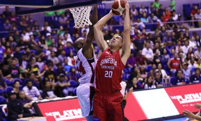 Tiebreaker Times Greg Slaughter showcases new-found speed in Ginebra's Govs' Cup debut Basketball News PBA  Tim Cone PBA Season 44 Greg Slaughter Barangay Ginebra San Miguel 2019 PBA Governors Cup