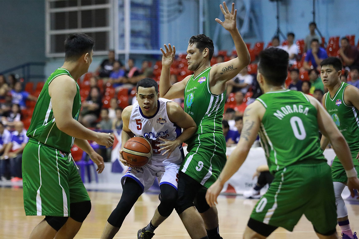 Tiebreaker Times Aaron Black posts crazy 45-18-12 line, punches AMA's QF ticket Basketball News PBA D-League  Raymark Matias Mark Herrera Luke Parcero Hazchem Green Warriors Dennis Santos AMA Online Education Titans alexander mohammed Aaron Black 2019 PBA D-League Second Conference