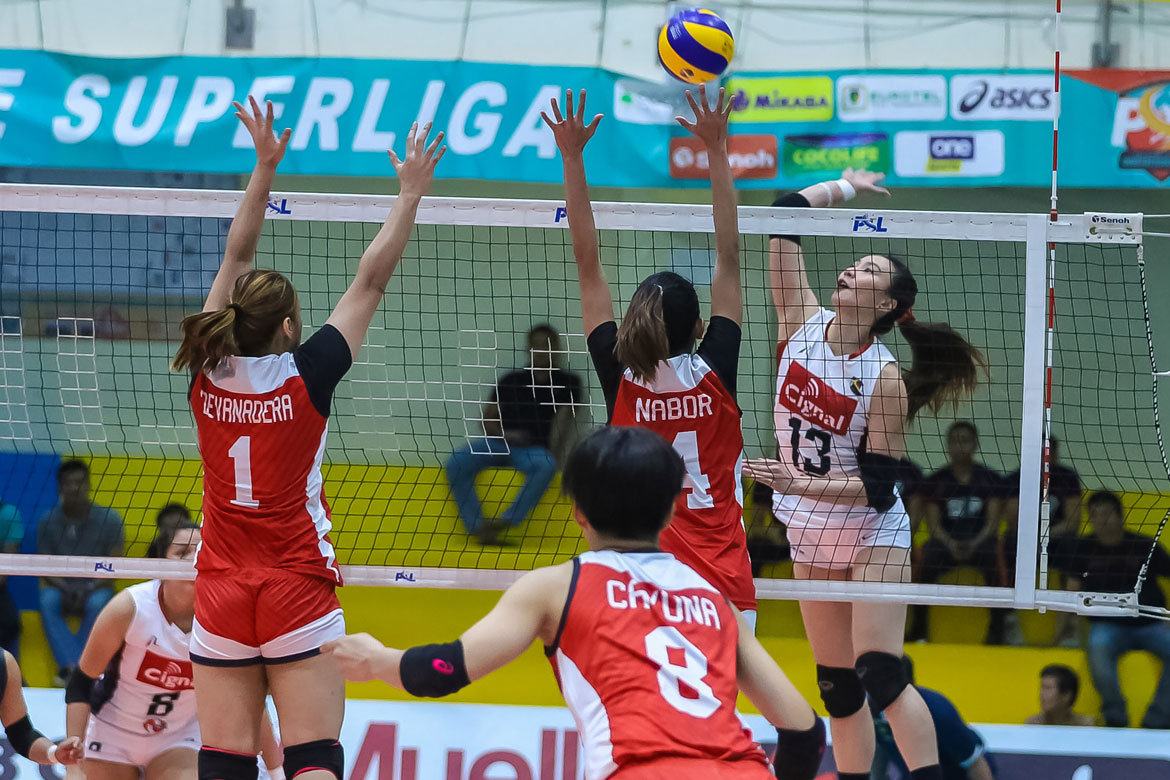 Tiebreaker Times Daquis, Cignal make triumphant PSL Invitationals debut at expense of PLDT News PSL Volleyball  Rose Doria Roger Gorayeb Rachel Daquis PLDT Home Fibr Power Hitters Mylene Paat Jasmine Nabor Edgar Barroga Cignal HD Spikers 2019 PSL Season 2019 PSL Invitational Cup