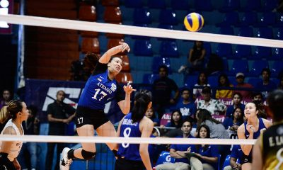 Tiebreaker Times Nisperos stars anew as Ateneo nears finals berth at UST's expense ADMU News PVL UST Volleyball  Vanie Gandler UST Women's Volleyball Oliver Almadro Kungfu Reyes Jaja Maraguinot Faith Nisperos Eya Laure Erika Raagas EJ Laure Dani Ravena Ateneo Women's Volleyball 2019 PVL Season 2019 PVL Collegiate Conference