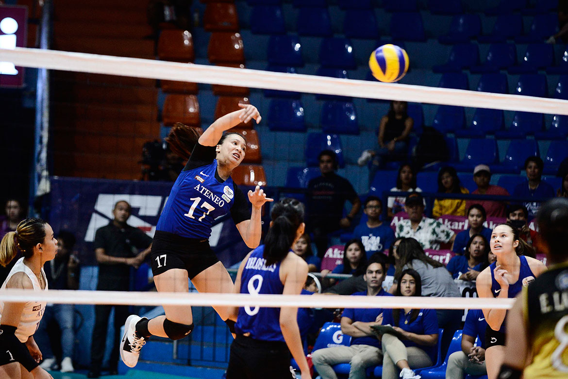Tiebreaker Times Nisperos excited to live out childhood dream of playing in Ateneo-La Salle game ADMU News UAAP Volleyball  UAAP Season 82 Women's Volleyball UAAP Season 82 Faith Nisperos Ateneo Women's Volleyball