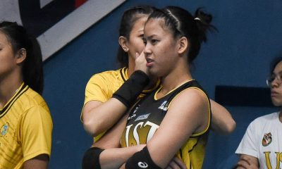 Tiebreaker Times UST fully supports Eya Laure's PWNVT campaign, says Kungfu Reyes News PVL UST Volleyball  UST Women's Volleyball Kungfu Reyes Eya Laure 2019 SEA Grand Prix 2019 PVL Season 2019 PVL Collegiate Conference