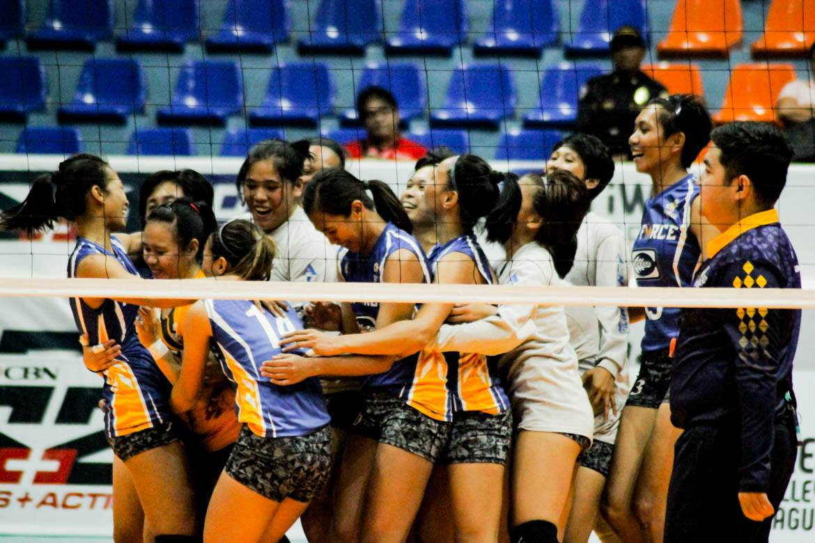 Tiebreaker Times Air Force storms back, sends Choco Mucho to fourth straight loss News PVL Volleyball  Wendy Semana Philippine Air Force Jet Spikers Oliver Almadro Maddie Madayag Kat Tolentino Jozza Cabalsa Joy Cases Jasper Jimenez Dell Palomata Choco Mucho Flying Titans Bang Pineda Arianna Angustia ac masangkay 2019 PVL Season 2019 PVL Open Conference