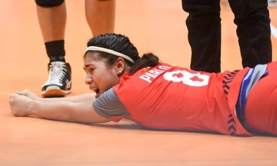 Tiebreaker Times Myla Pablo heaves sigh of relief as injury nothing serious News PVL Volleyball  Myla Pablo Motolite 2019 PVL Season 2019 PVL Open Conference