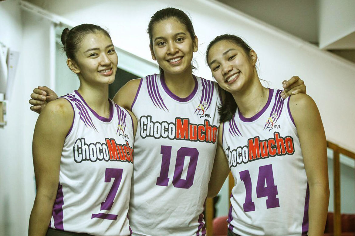 Tiebreaker Times Choco Mucho ready to show next level as Madayag, Tolentino, De Leon flex might News PVL Volleyball  Maddie Madayag Kat Tolentino Choco Mucho Flying Titans Bea De Leon 2019 PVL Season 2019 PVL Open Conference