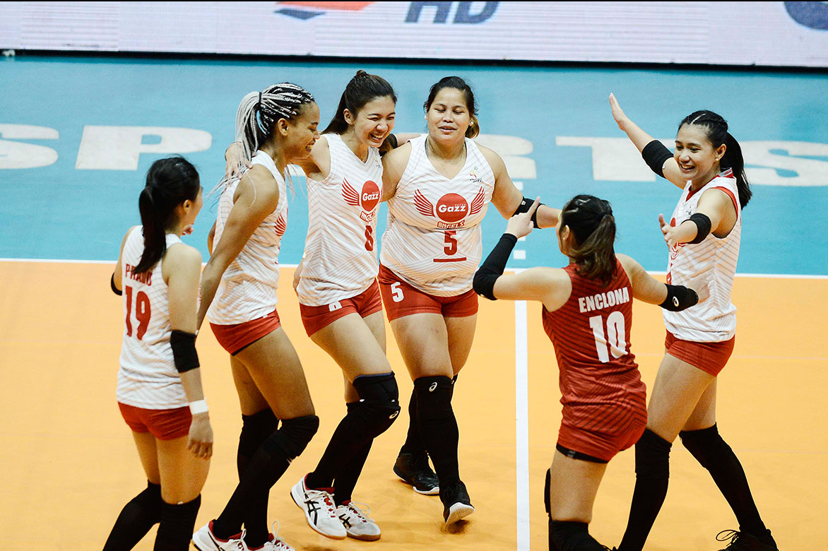 Tiebreaker Times Petro Gazz notches first win streak, piles on Air Force's woes News PVL Volleyball  Wendy Semana Philippine Air Force Jet Spikers Petro Gazz Angels Paneng Mercado Jovie Prado Jeanette Panaga Jasper Jimenez Djanel Cheng Dell Palomata Cherry Nunag Arnold Laniog 2019 PVL Season 2019 PVL Open Conference