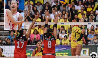 Tiebreaker Times Jia Morado in awe of Kalei Mau's might, leadership News Volleyball  Philippine Women's National Volleyball Team Kalei Mau Jia Morado 2019 SEA Grand Prix