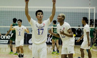 Tiebreaker Times Glorioso, Njigha connive as Ateneo outlasts Eco Oil-La Salle to go to 2-0 ADMU AU DLSU FEU News SBC Spikers' Turf Volleyball  Timmy Sto. Tomas San Beda Men's Volleyball Philippine Coast Guard Dolphins Mark Calado lance de castro kurt medalla JP Bugaoan Jessrael Liberato Gian Glorioso FEU Men's Volleyball Ferdinand Ulibas DLSU Men's Volleyball Chumason Njigha Christian Segovia Christian dela Paz billi anima Ateneo Men's Volleyball Arellano Men's Volleyball 2019 Spikers Turf Season 2019 Spikers Turf Open Conference