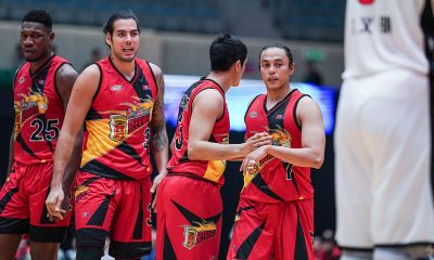 Tiebreaker Times Romeo dazzles as short-handed San Miguel stamps class on Shenzhen Asia League Basketball News PBA  Terrence Romeo Shenzen Aviators Shen Zijie San Miguel Beermen Pierre Jackson Lester Prosper He Xining Dez Wells Christian Standhardinger Chris Ross 2019 The Terrific 12