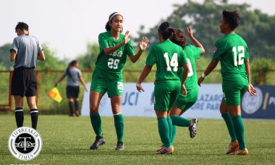 Tiebreaker Times UST, La Salle remain locked in two-team race for PFFWL supremacy DLSU FEU Football News PFF Women's League UP UST  UST Women's Football UP Women's Football Tigers FC Tejanee Isulat Steph Permanes Stallion-Hiraya FC Stacey Arthur Shelah Mae Cadag Sara Castaneda Rocelle Mendaño Patricia Lim Michaela Maligalig Maroons FC Let Dimzon Lalaine Durano Joyce Onrubia Inna Palacios Haya Ibarra Hans-Peter Smit Green Archers United FC Glory Lado FEU Women's Football DLSU Women's Football Camille Rodriguez Anicka Castaneda Alyssa Ube Alisha Del Campo Aging Rubio Abigail Corvera 2019 PFFWL Season
