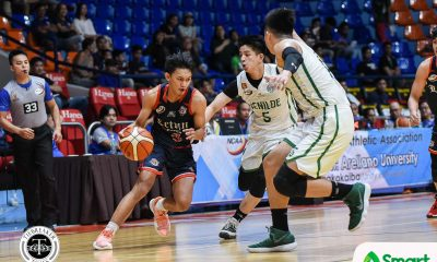 Tiebreaker Times Fran Yu nails dagger as Letran fends off St. Benilde for solo third Basketball CSB CSJL NCAA News  Yankie Haruna TY Tang NCAA Season 95 Seniors Basketball NCAA Season 95 Letran Seniors Basketball Larry Muyang Fran Yu Bonnie Tan Bonbon Batiller Benilde Seniors Basketball Ato Ular