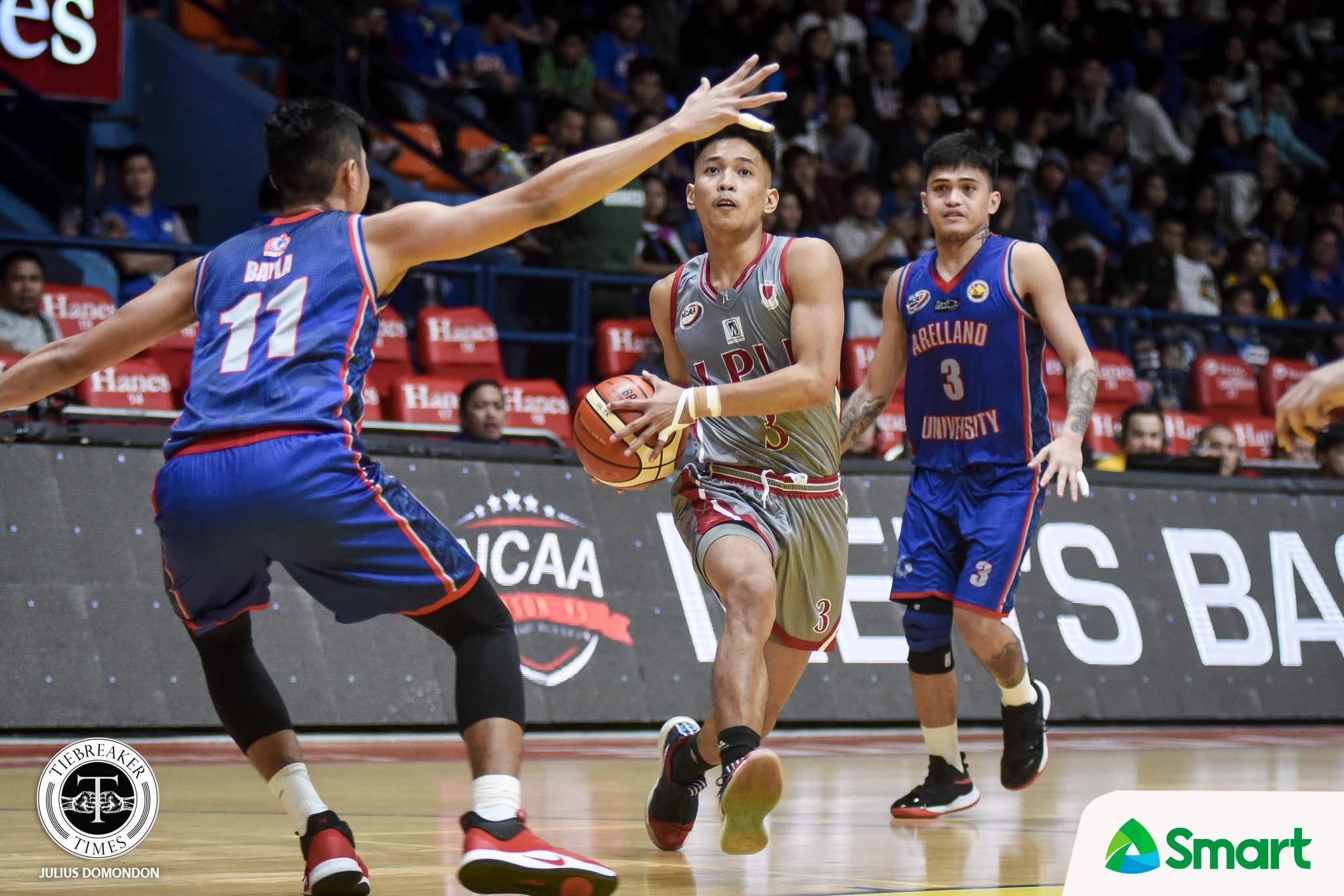 Tiebreaker Times Marcelino, Lyceum get back at Arellano AU Basketball LPU NCAA News  Topex Robinson NCAA Season 95 Seniors Basketball NCAA Season 95 Mike Nzeusseu Lyceum Seniors Basketball Jaycee Marcelino Arellano Seniors Basketball