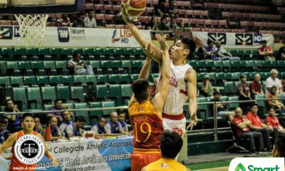 Tiebreaker Times Calvin Oftana takes over against Mapua, powers San Beda to first round sweep Basketball MIT NCAA News SBC  San Beda Seniors Basketball Randy Alcantara Paolo Hernandez Noah Lugo NCAA Season 95 Seniors Basketball NCAA Season 95 Mapua Seniors Basketball James Canlas Donald Tankoua Calvin Oftana Boyet Fernandez