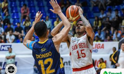 Tiebreaker Times Canlas heats up, leads San Beda to 12-0 at JRU's expense Basketball JRU NCAA News SBC  San Beda Seniors Basketball NCAA Season 95 Seniors Basketball NCAA Season 95 Louie Gonzalez JRU Seniors Basketball John Amores James Canlas Evan Nelle Donald Tankoua Calvin Oftana Agem Miranda