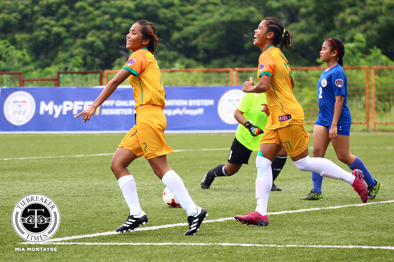 PFFWL-2019-M1-FEU-def-Tuloy-FC-Tolentin-Onrubia La Salle scores 6-goal rout of GAU, returns to top of PFFWL table DLSU FEU Football News PFF Women's League UP  - philippine sports news