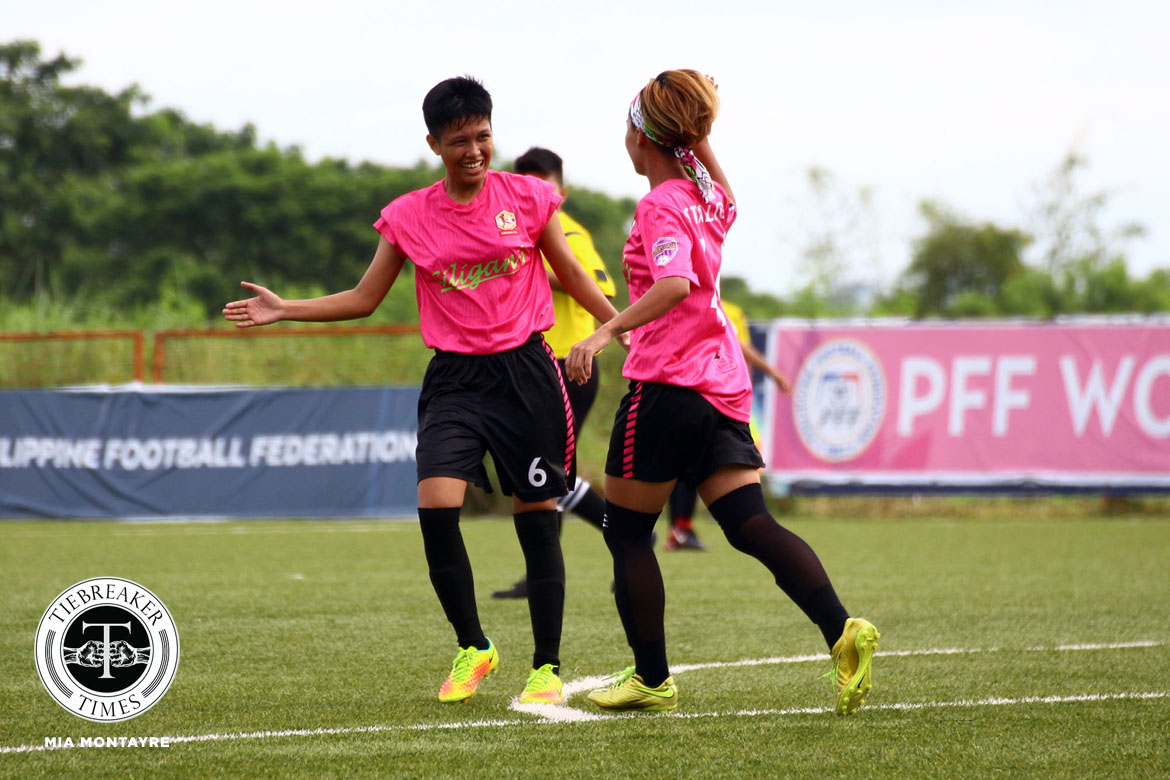 Tiebreaker Times UST overtakes La Salle with slim lead at top of PFFWL FEU Football News PFF Women's League UP UST  UST Women's Football UP Women's Football Tuloy FC Tigers FC Stallion-Hiraya FC Samantha Asilo Philip Dinglasan Nomads FC Nicole Andaya Mary Rose Obra Martie Bautista Marilou Layacan Marianne Narciso Let Dimzon Lanie Ortillo Jenny Perez Jennizel Cabalan Isabella Bandoja Green Archers United Geraldine Cabrera FEU Women's Football Elvin Marcellana Aging Rubio 2019 PFFWL Season