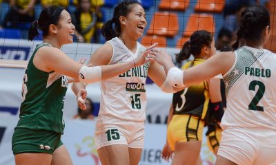 Tiebreaker Times St. Benilde punches ticket to semis, sends TIP home winless CSB News PVL Volleyball  TIP Lady Engineers Jewel Lai Jerry Yee Diane Ventura Boy Paril Ashley Jinon 2019 PVL Season 2019 PVL Collegiate Conference