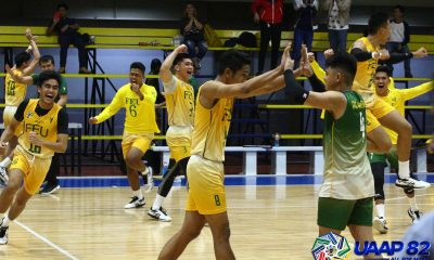 Tiebreaker Times Rans Cajolo powers FEU-D past UE in prelude to NU showdown ADMU AdU DLSU FEU News UAAP UE UST Volleyball  UST Boys Volleyball UE Boys Volleyball UAAP Season 82 Boys Volleyball UAAP Season 82 Rey De Vega Rans Cajolo Paul Colinares Jerold Talisayan Francis Babon FEU Boys Volleyball DLSZ Boys Volleyball Ateneo Boys Volleyball Andre Espejo Amil Pacinio Adamson Boys Volleyball