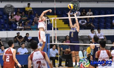 Tiebreaker Times Babon-led UE sends NSNU to 0-2 slate as UST, FEU-D pick up wins ADMU DLSU FEU News NU UAAP UE UST Volleyball  UST Boys Volleyball UE Boys Volleyball UAAP Season 82 Boys Volleyball UAAP Season 82 Rommel Abella NU Boys Volleyball Michaelo Buddin Joshua Espenida Giles Torres Francis Babon France Racaza FEU Boys Volleyball Emmanuel Advincula DLSZ Boys Volleyball Ateneo Boys Volleyball Angelo Lipata Alexis Mendoza