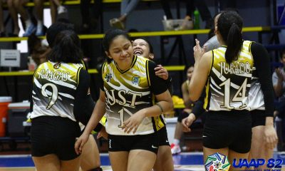 Tiebreaker Times UST Jr. Tigresses, NSNU Lady Bullpups stretch streaks to three DLSU FEU News NU UAAP UE UP UST Volleyball  Yani Fernandez UST Girls Volleyball UPIS Girls Volleyball UE Girls Volleyball UAAP Season 82 Girls Volleyball UAAP Season 82 Renee Penafiel Regina Jurado NU Girls Volleyball Michaela Belen Lorien Gamboa Jean Asis Irah Jaboneta FEU Girls Volleyball DLSZ Girls Volleyball Chrisann Susbilla Alyssa Solomon Alliah Omar