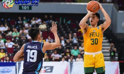 Tiebreaker Times Xyrus Torres finds mark as FEU scores surprising romp of Adamson AdU Basketball FEU News UAAP  Xyrus Torres Valandre Chauca UAAP Season 82 Men's Basketball UAAP Season 82 Patrick Tchuente Nash Racela Lenda Douanga Jerrick Ahanmisi Franz Pumaren FEU Men's Basketball Adamson Men's Basketball