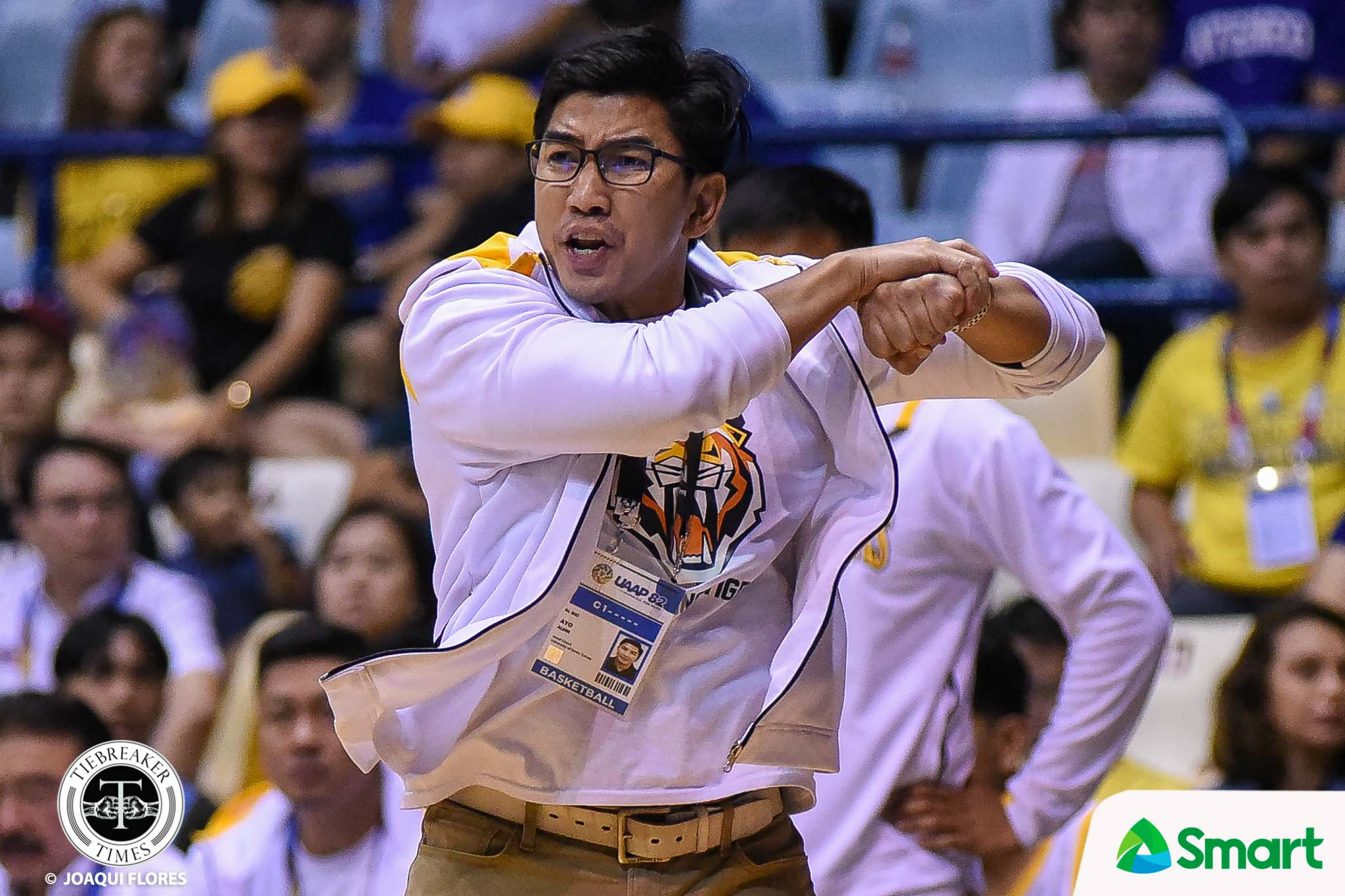 Tiebreaker Times UAAP on Bicol bubble-gate: Reserve judgment until end of UST probe Basketball News UAAP UST  UST Men's Basketball UAAP Season 83 Men's Basketball UAAP Season 83 Rebo Saguisag Coronavirus Pandemic Aldin Ayo