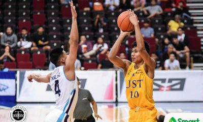 Tiebreaker Times Rhenz Abando laments not being able to help UST late against Adamson Basketball News UAAP UST  UST Men's Basketball UAAP Season 82 Men's Basketball UAAP Season 82 Rhenz Abando