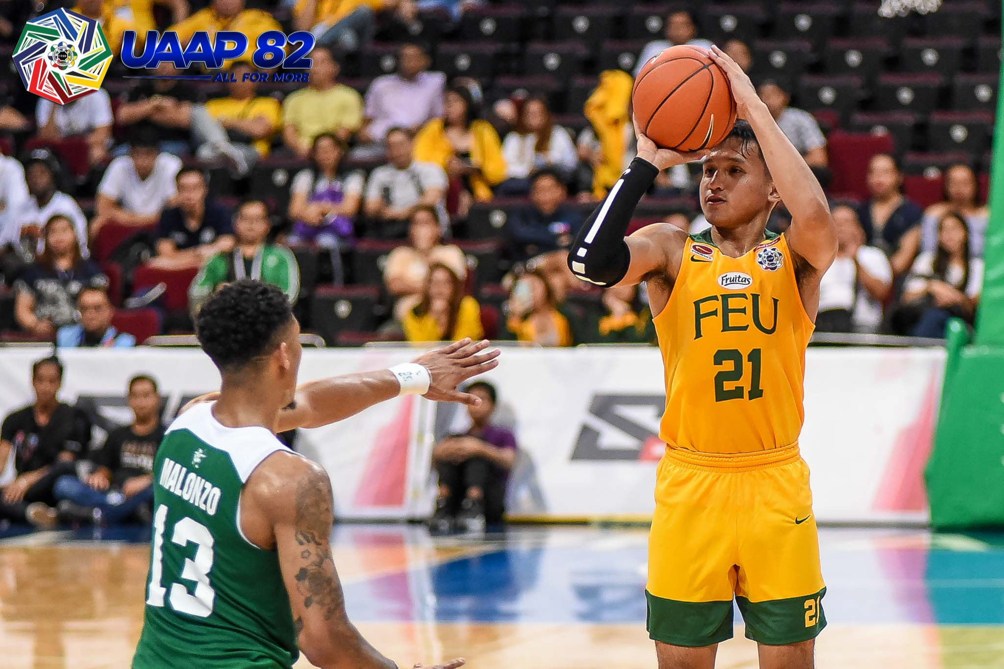 Tiebreaker Times Comboy holds off La Salle as FEU Tamaraws even slate Basketball DLSU FEU News UAAP  Wendelino Comboy UAAP Season 82 Men's Basketball UAAP Season 82 Patrick Tchuente Olsen Racela Jamie Orme-Malonzo Jamie Orme Gian Nazario FEU Men's Basketball DLSU Men's Basketball Andrei Caracut