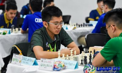 Tiebreaker Times Morado, FEU slam UE, pull away in UAAP Men's Chess ADMU AdU Chess DLSU FEU News NU UAAP UE UP UST  UST Men's Chess UP Men's Chess UE Men's Chess UAAP Season 82 Men's Chess UAAP Season 82 Rhenzi Kyle Sevilliano NU Men's Chess Michael Suacillo John Merill Jacutina Jeth Romy Morado FEU Men's Chess DLSU Men's Chess Darry Bernardo Ateneo Men's Chess Armand Gabriel Narvaja Adamson Men's Chess