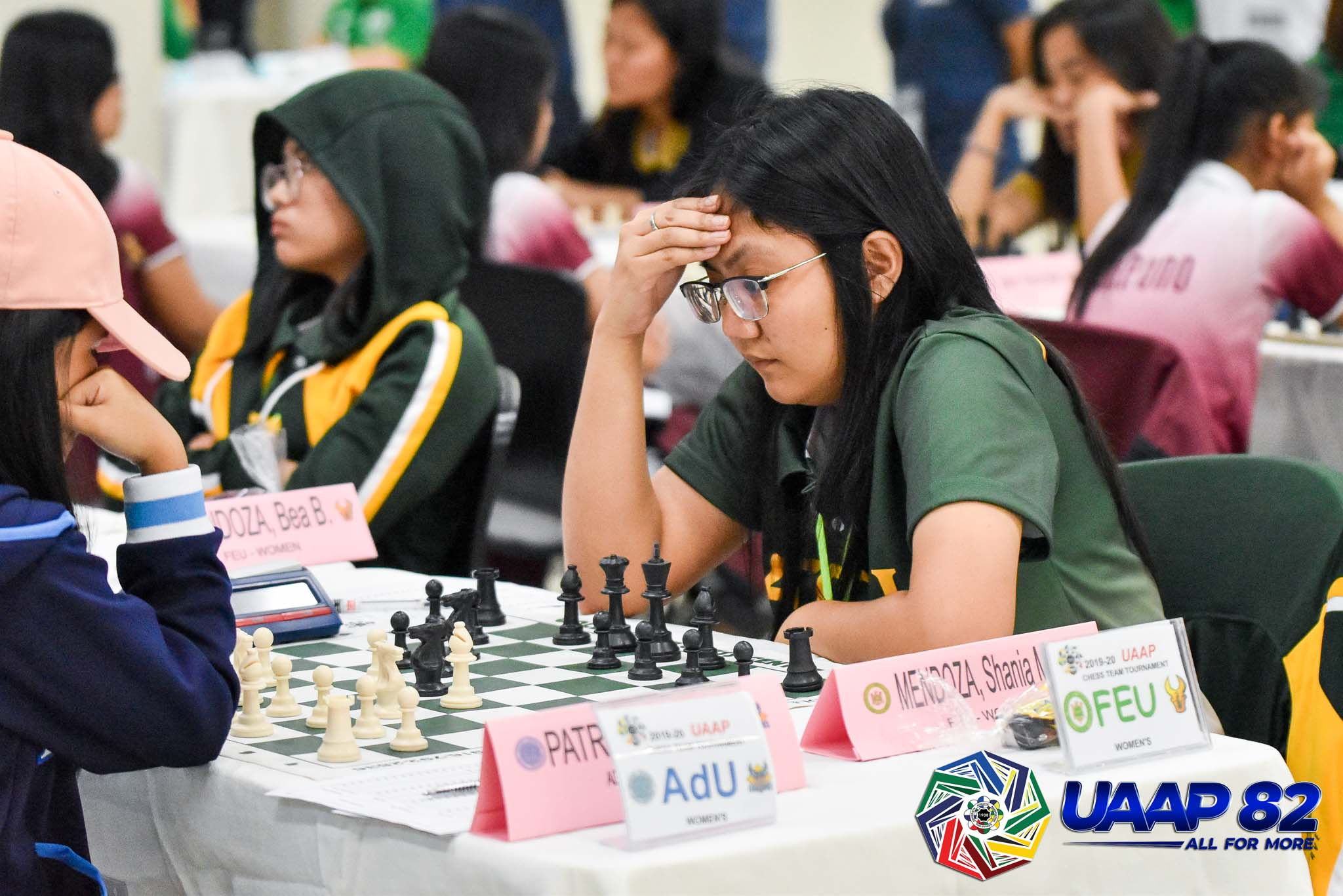 Tiebreaker Times FEU holds way, La Salle inches closer in UAAP Women's Chess ADMU AdU Chess DLSU FEU News NU UAAP UE UP UST  Viona Nepascua UST Women's Chess UP Women's Chess UAAP Season 82 Women's Chess UAAP Season 82 Shania Mae Mendoza Samantha Glo Revita NU Women's Chess Marie Antoinette San Diego Manilyn Cabungcag Jennina Valdez Jallen Herzchelle Agra Franchell Eds Javier FEU Women's Chess Ella Grace Moulic DLSU Women's Chess Bea Mendoza Ateneo Women's Chess Adamson Women's Chess Abigail Tamundong