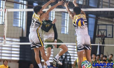 Tiebreaker Times FEU-D Baby Tams deal UST first loss as NSNU Bullpups get first win ADMU AdU DLSU FEU News NU UAAP UST Volleyball  UST Boys Volleyball UAAP Season 82 Boys Volleyball UAAP Season 82 Rey De Vega Rans Cajolo NU Boys Volleyball Micahelo Buddin Jerold Talisayan Giulian San Juan FEU Boys Volleyball Edgar Barroga DLSU Boys Volleyball Benny Martinez Ateneo Boys Volleyball Arvin Bandola Andre Espejo Amil Pacinio Adamson Boys Volleyball