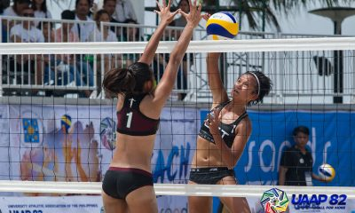 Tiebreaker Times UST's Barbon-Eslapor dumps UP to open title defense bid ADMU AdU Beach Volleyball DLSU FEU News NU UAAP UE UP UST  UST Women's Volleyball UP Women's Volleyball UE Women's Volleyball UAAP Season 82 Women's Beach Volleyball UAAP Season 82 Tin Tiamzon Shiela Kiseo Sheena Gallantes NU Women's Volleyball Kring Uy Justine Jazareno Gen Eslapor FEU Women's Volleyball DLSU Women's Volleyball Chen Ave Babylove Barbon Ateneo Women's Volleyball Adamson Women's Volleyball